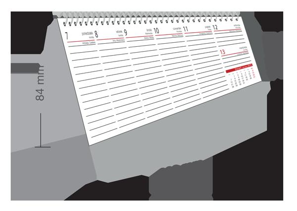 Kalendarze biurkowy tygodniowy
